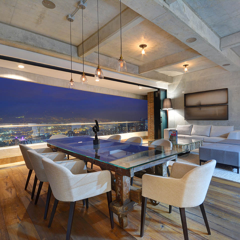 Luxury Medellin Penthouse Living Room