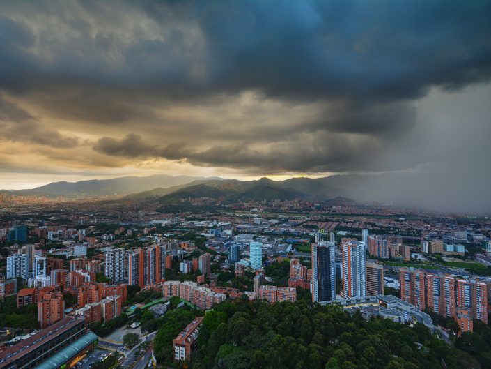 Rain Approaches in Medellin Valley
