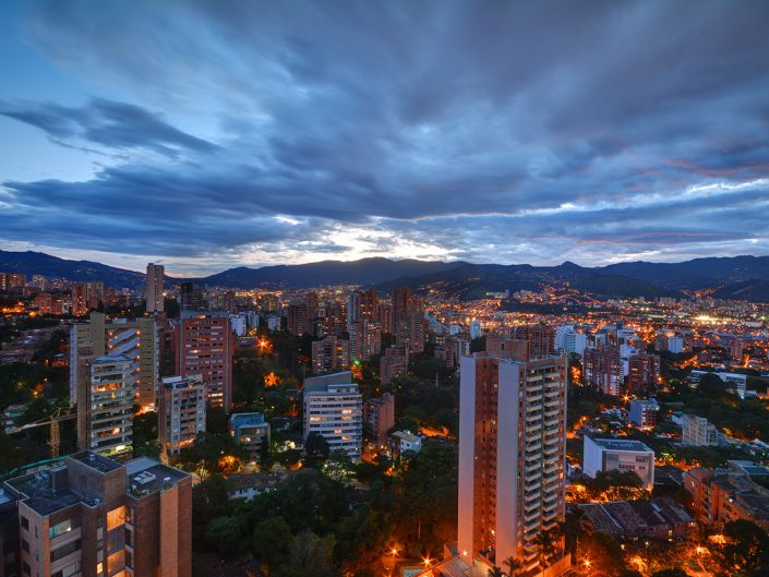 Photo-of-Medellin-at-Night