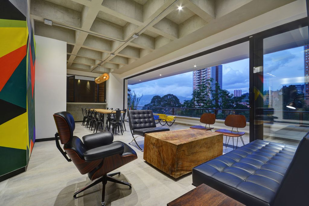 Evening Living Room in Medellin Apartment Rental Property
