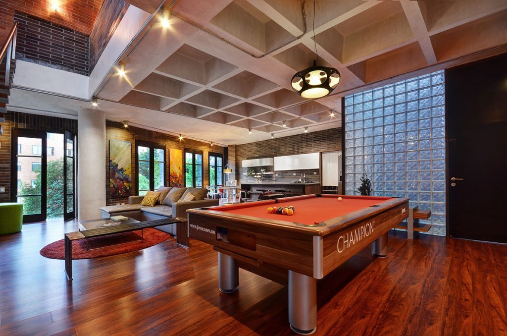 Pool Table in Luxury Apartment in Medellin