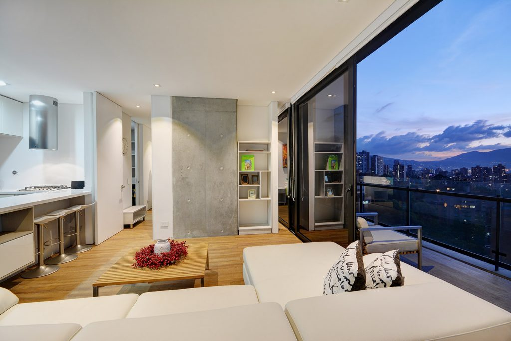 Living Room with View of Medellin
