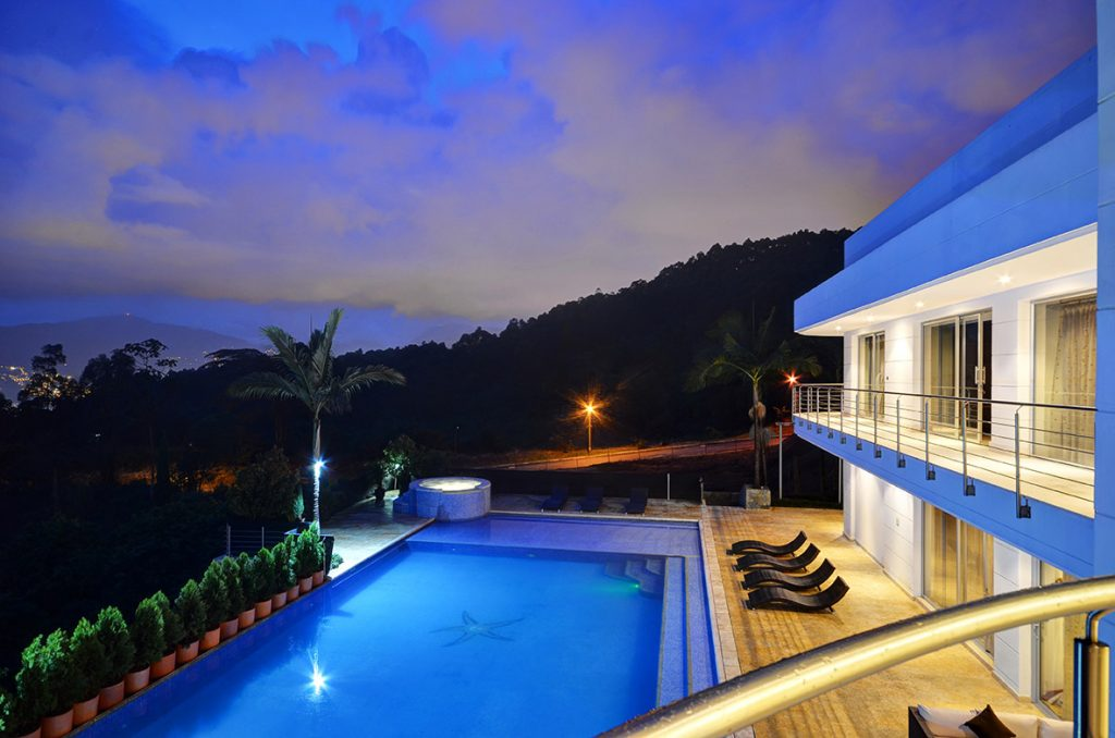 Night At Luxury Mansion in Medellin