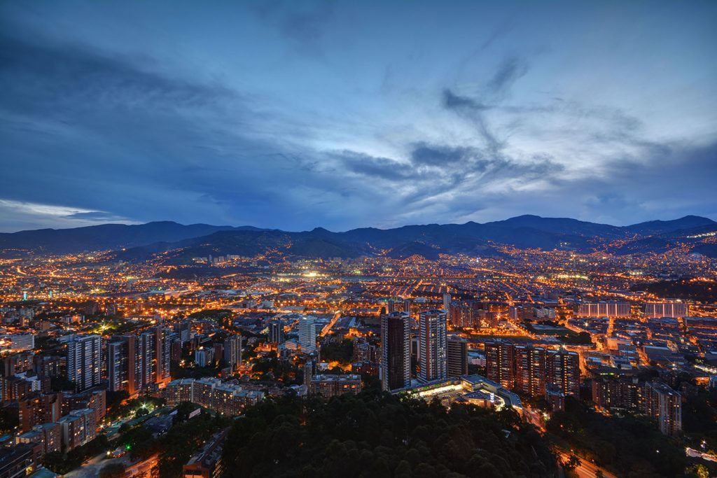 Panoramic view of Medellin