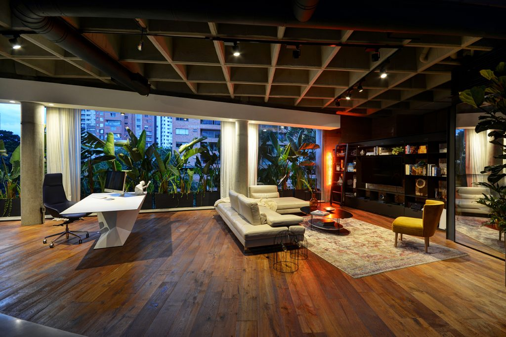 Wide angle view of Medellin Luxury Loft Apartment