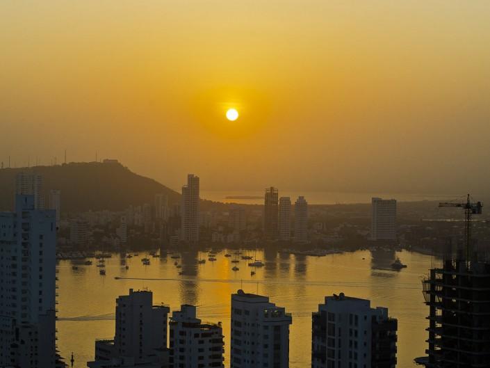 Cartagena Colombia Sunrise Boats