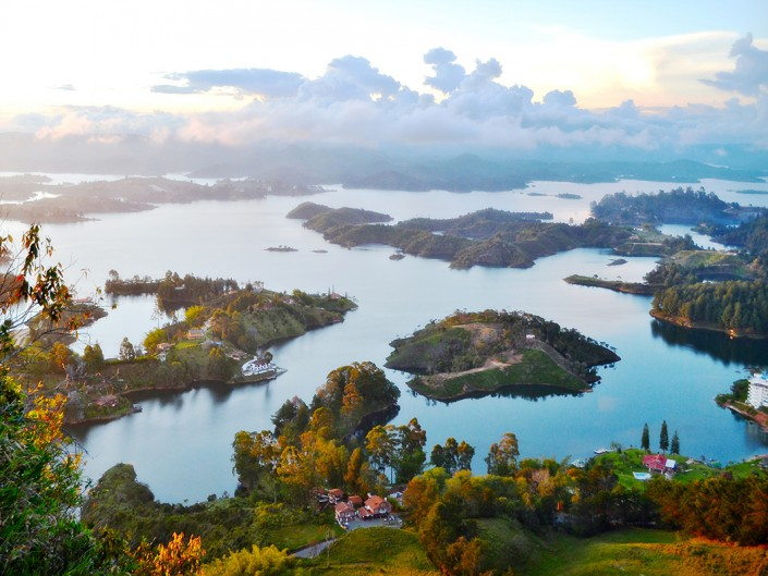 View from Guatape Antioquia Colombia