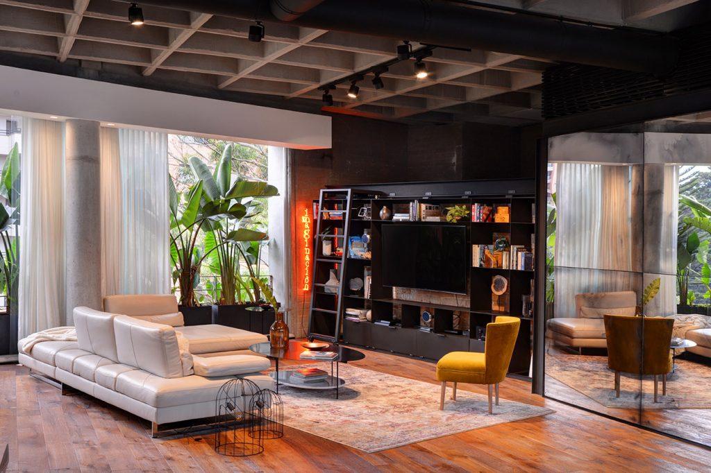 Living Room in Luxury Loft Medellin