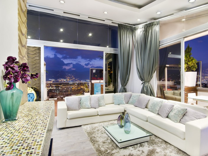 Luxury Penthouse Medellin At Night