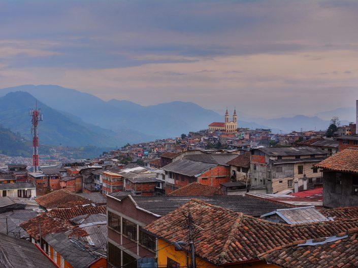 Manizales Colombia Landscape at Sundown