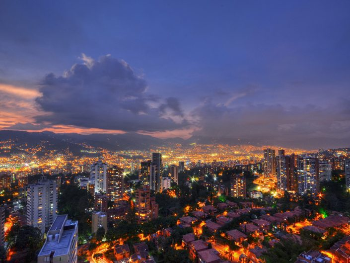 A Beautiful Evening in Medellin
