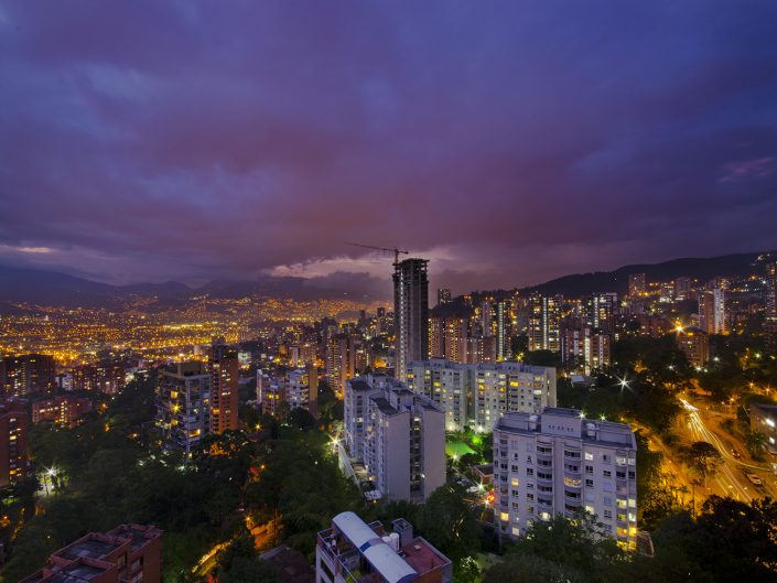 A Cloudy Night in Medellin
