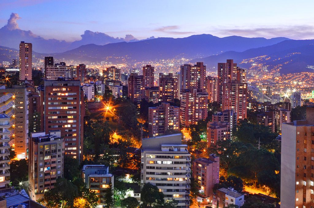 One of the best pictures of Medellin Colombia at night