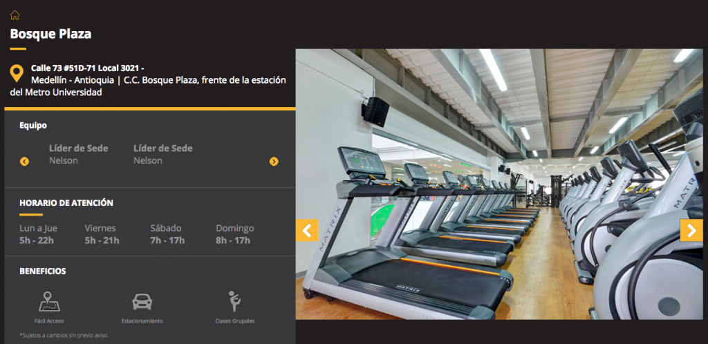 Smart Fit Bosque Plaza Website