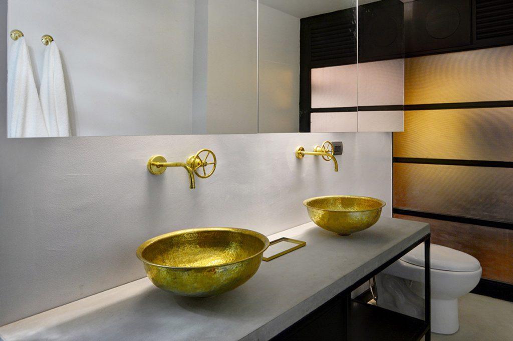 bathroom with elegant sinks