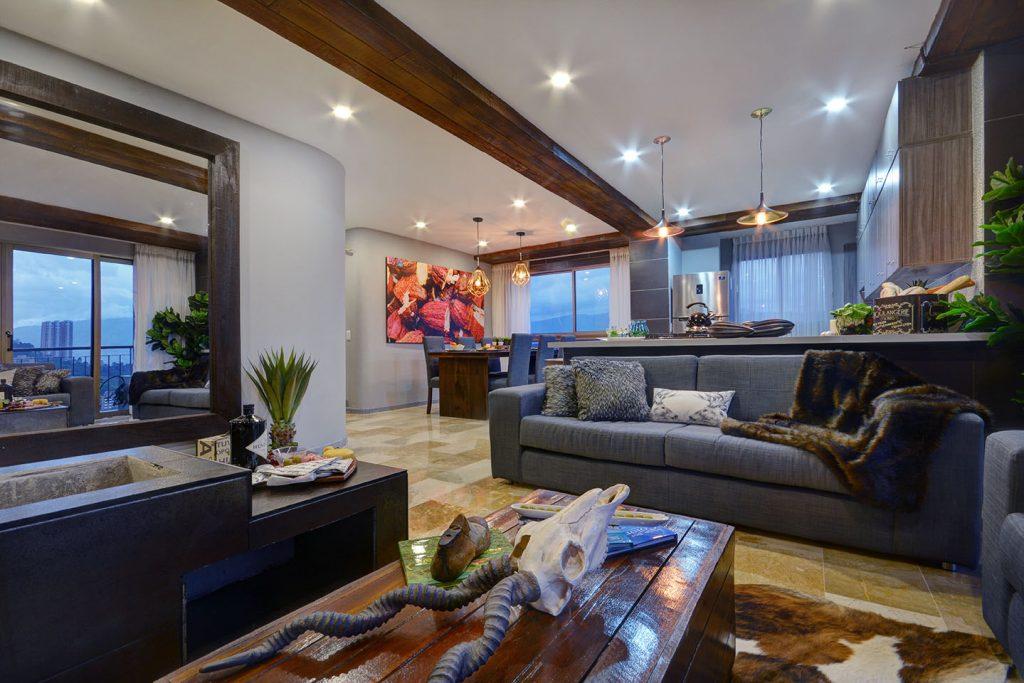 Luxury Medellin Apartment Living Room
