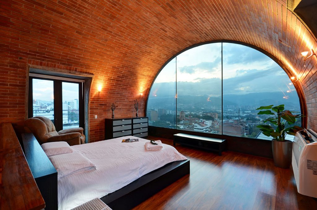 Luxury Penthouse Bedroom in Medellin Colombia