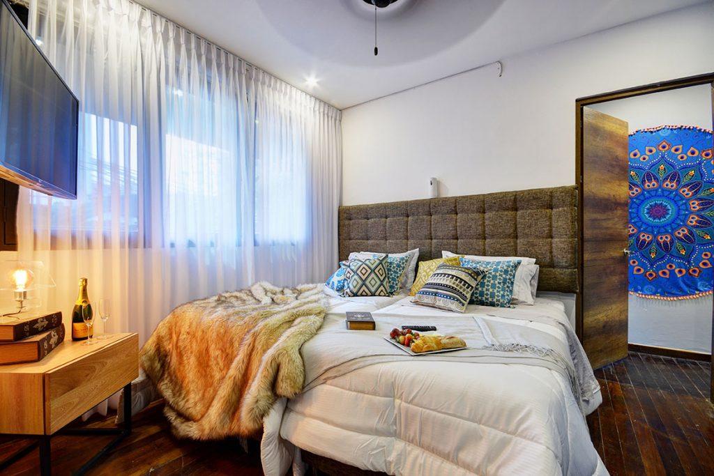 Bedroom in Parque Lleras Medellin Apartment